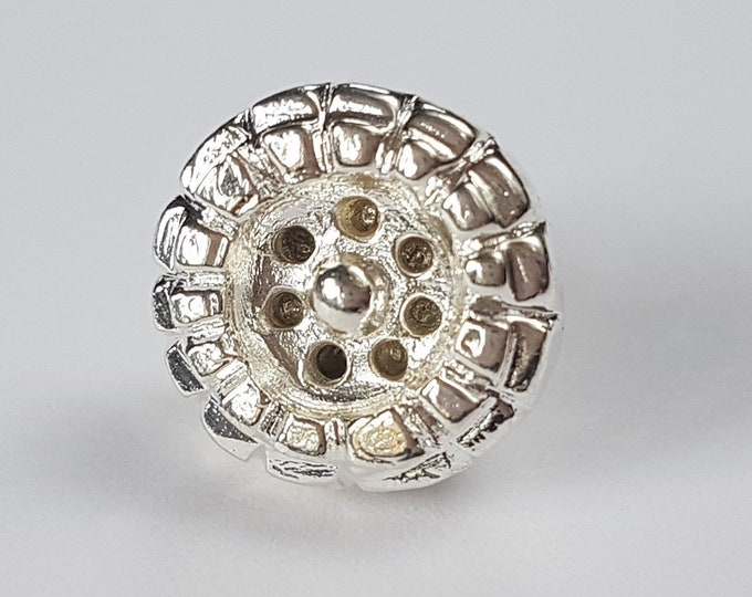 Set of 2 Byzantine BUTTONS silver replica
