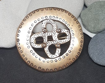 Bronze Oval Viking Brooch, replica from Latvia