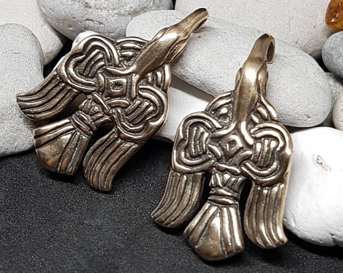 Set of Slavic clasps for legwraps - replica from Russia