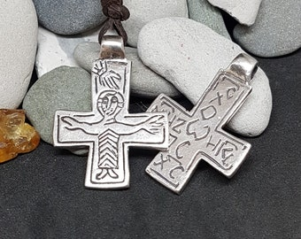 Silver Byzantine Cross replica from Grerat Moravia