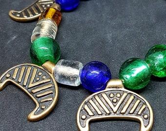 Bronze LUNULA LUNITSA necklace, replica from Latvia