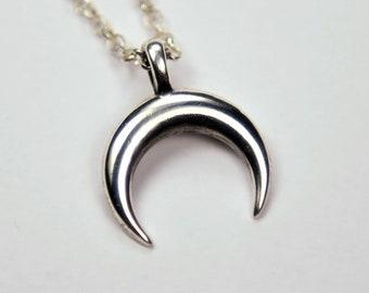 Small silver Lunula pendant, charm inspiration ancient Rome