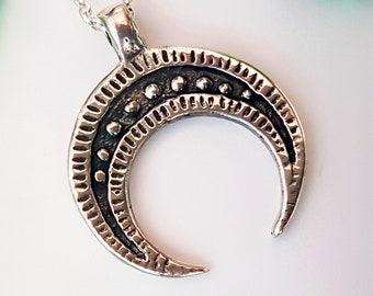 Silver Lunula Pendant, lunitsa solid silver replica from Danilowo Male Wroclaw Poland viking slavic reenactment, SCA, LARP
