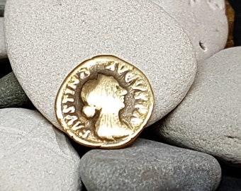 Denar FAVSTINA AVGVSTA Roman Coin Bronze Copy