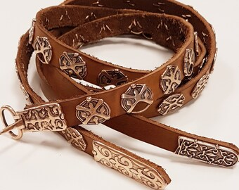 Slavic BELT double strap complete replica from Great Moravia, Karos, Hungary
