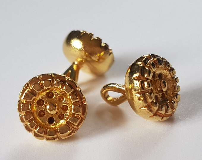 Set of 2 Byzantine BUTTONS gilded / gold replica