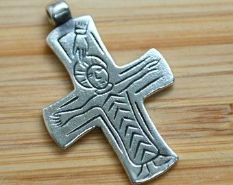 Silver Byzantine Cross replica from Great Moravia