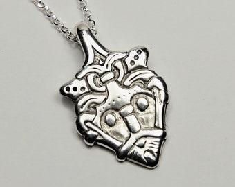 Silver LOKI pendant replica from Gniezdovo Russia