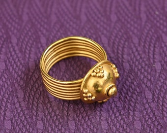 Gold BYZANTINE ring gilded replica