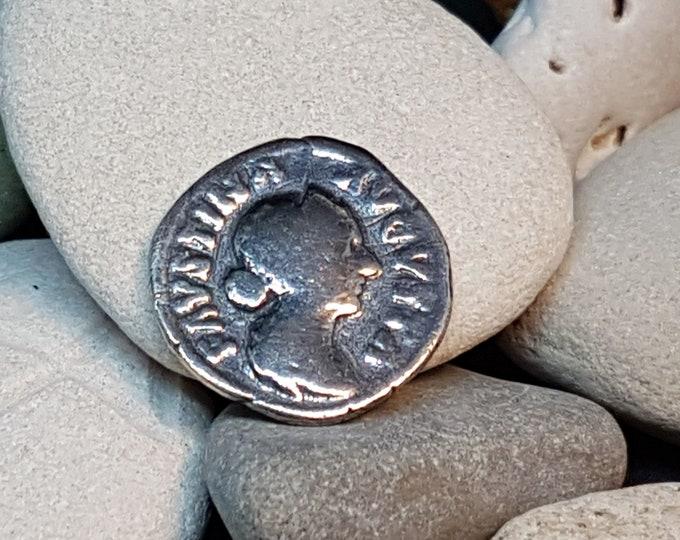 Denar FAVSTINA AVGVSTA Roman Coin Silver Copy