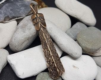 Svetovid Slavic Deity of War, bronze pendant replica from Wolin, Poland