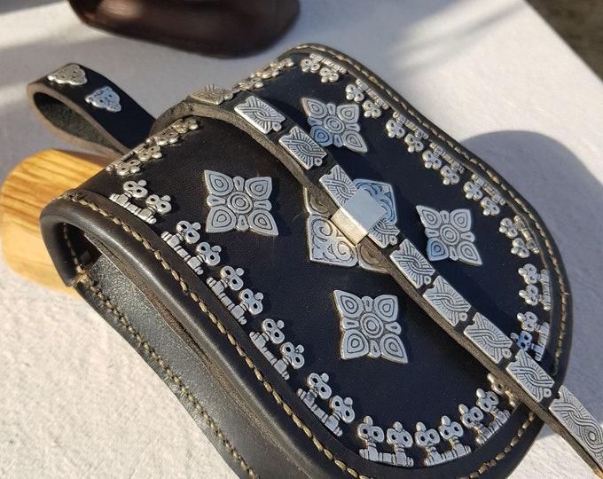 Viking BELT BAG POUCH silver replica from Birka, Sweden