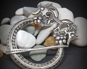Silver FIBULA cloak pin replica from Birka, Sweden
