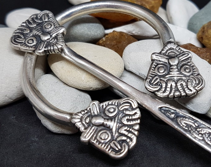 Silver FIBULA cloak pin replica from Hom, Denmark