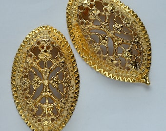 Gold Viking TURTLE BROOCHES, gold plated replica from Kaupang Norway