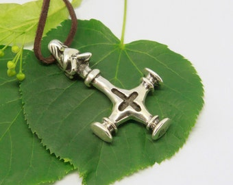 Silver WOLF CROSS replica from Fossi, Iceland