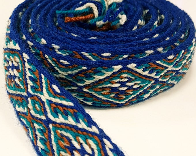 Tablet WOVEN BELT Thick from 100% wool 3,6 cm width