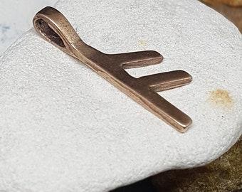 Rune ANSUZ Bronze Pendant - Norse Elder Futhark