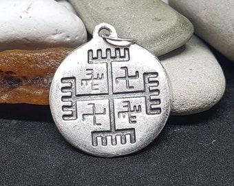 Hands of God silver Pendant, Slavic Symbol, svarog, talisman, sign, amulet, bronze, iron age