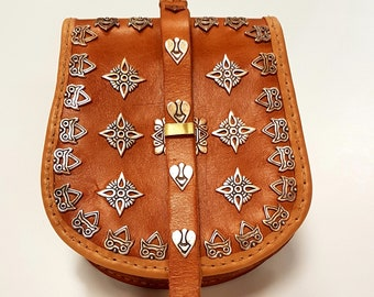 Slavic BELT BAG POUCH replica from Great Moravia,Magyar, Karos Hungary