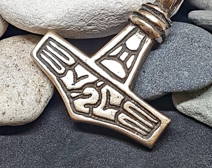 MJOLNIR THOR HAMMER Bronze Pendant Replica from Gotland, Sweden