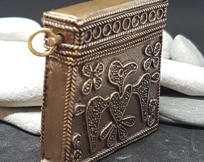 Bronze RELIQUARY KAPTORGA pouch amulet replica from Bodzia Poland