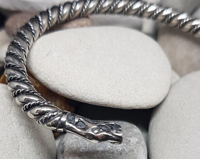 Silver viking bracelet from Gotland