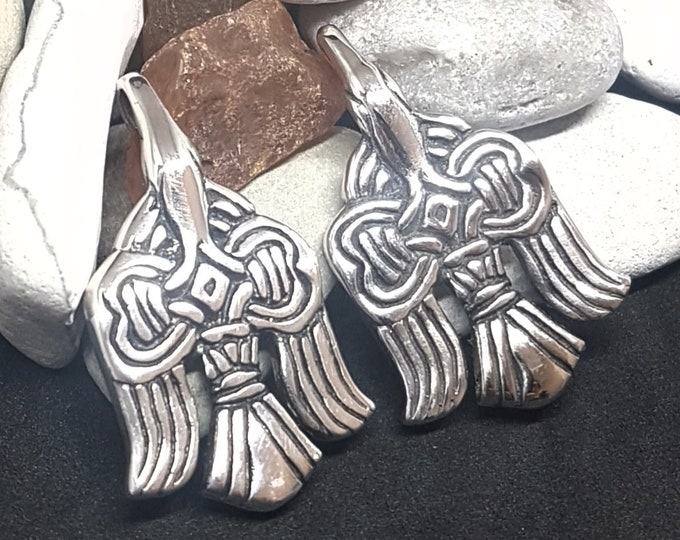 Set of  Slavic Silver Plated RAVEN CLASP HOOKS for legwraps replica from Russia