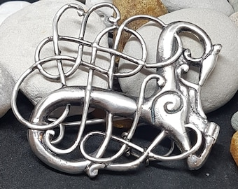 Silver URNES STYLE brooch replica from Lindholm Høje , Denmark