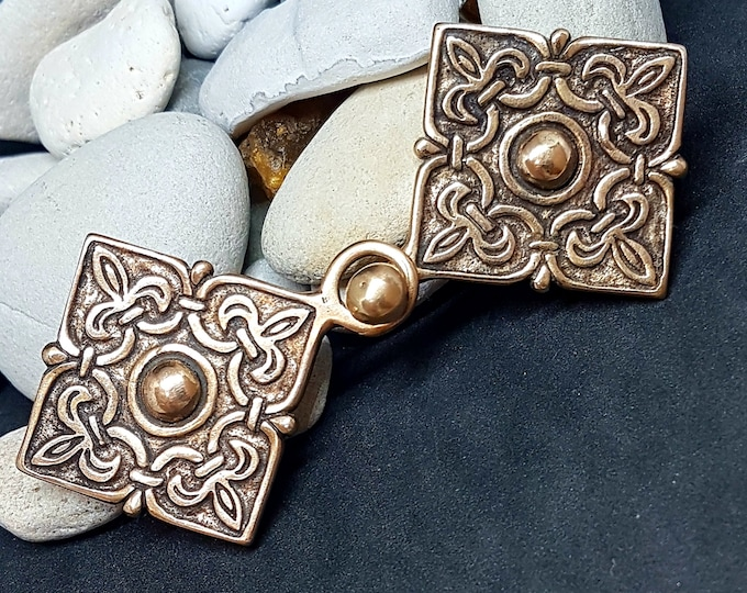 Viking KAFTAN CLASP Bronze replica from Chernigov, Kiev Rus