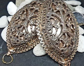 Bronze Viking TURTLE BROOCHES, replica from Kaupang Norway