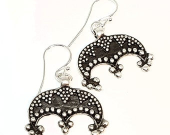 LUNULA Earrings Silver, Lunitsa Replica from Great Moldavia