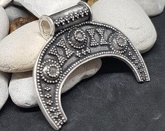 Lunula pendant necklace slavic Lunitsa silver replica from Leszno, Kutno Poland Viking Reenactment, SCA, LARP