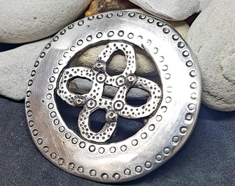 Silver Oval Viking Brooch, replica from Latvia