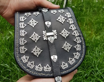 BELT BAG POUCH slavic silver replica Magyar, Karos Hungary