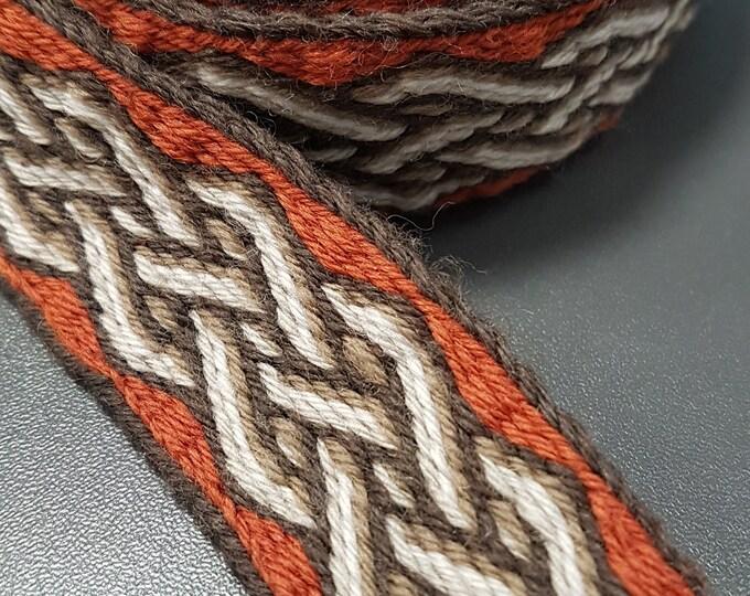 Tablet WOVEN BELT from 100% wool 2,5 cm width