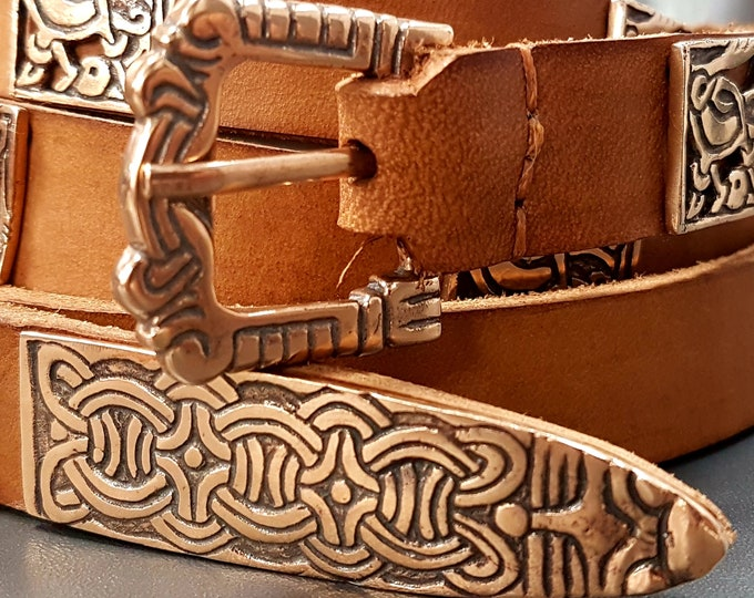 Elements for Viking BELT, bronze replica from Birka, Bjorko Sweden