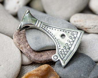 "Silver SLAVIC AXE pendant replica from Rus of ""hatchet amulet"""