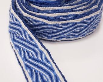 Tablet WOVEN BELT Birka Pattern from 100% wool 3,2 cm width