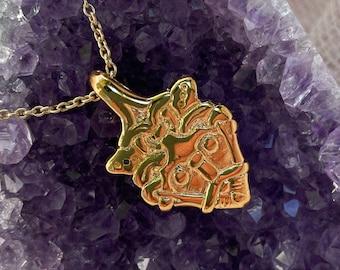 Gold LOKI pendant replica from Gniezdovo Russia