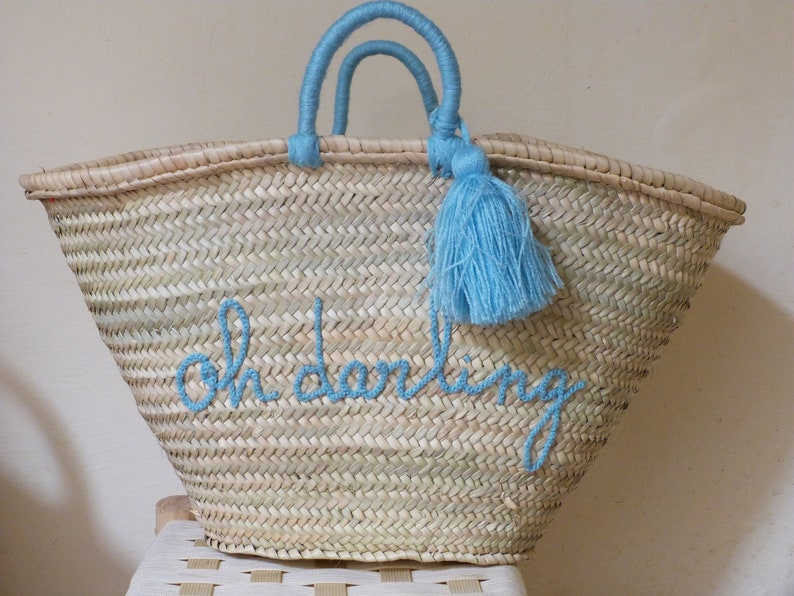 Personalized straw basketbridesmaids gift bridal  2f1dd3efa577