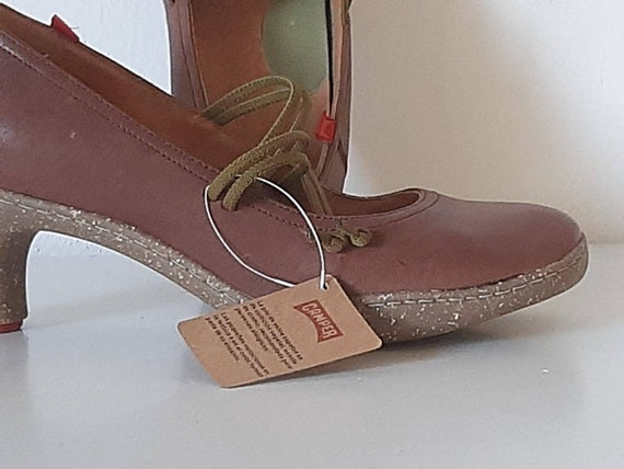 Brown woman Camper shoes, vintage brown shoes with