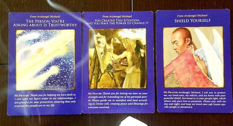 Tarot Card Reading, Past, Present, Future Reading, 3 Card Tarot Reading,  Archangel Michael Oracle Card Reading