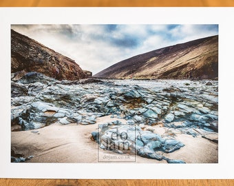 Chapel Porth Beach, Cornwall - Fine Art Photographic Greeting Card