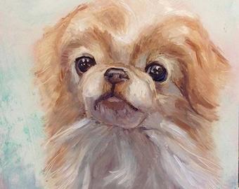 Custom Pet Portraits Oil on Wood