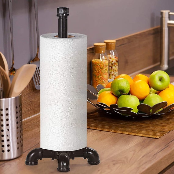 Handmade Industrial Farmhouse Paper Towel Holder