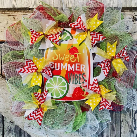 Handmade Sweet Summer Vibes Wreath Summertime