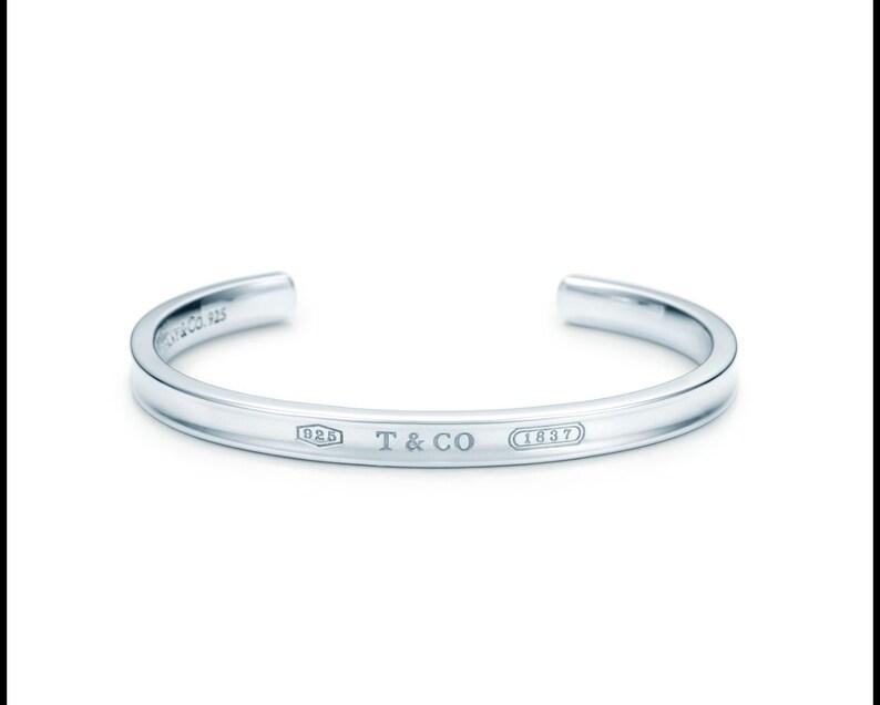 d2bca00b5452 TIFFANY Wide Concave Pristine Sterling Silver 1837 Cuff