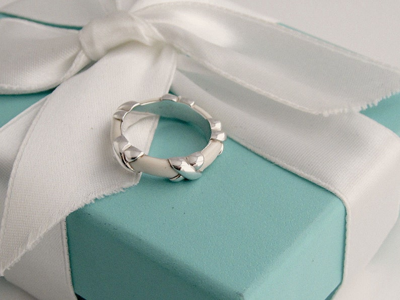 d0182e86c502 Tiffany and Co RIng Rare Signature X Sterling Silver and