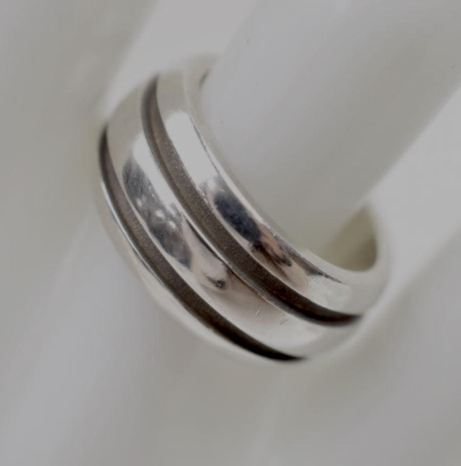 59048745b4b0 TIFFANY   CO. Atlas Groove Sterling Silver RIng Size 7